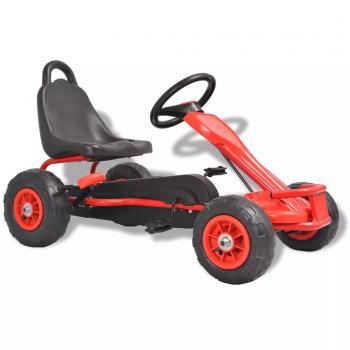 HuberXXL Pedal Go-Kart mit Luftreifen Rot