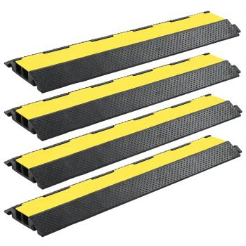 HuberXXL Kabelbrücken Überfahrschutz 4 Stk. 2 Kanäle Gummi 101,5 cm