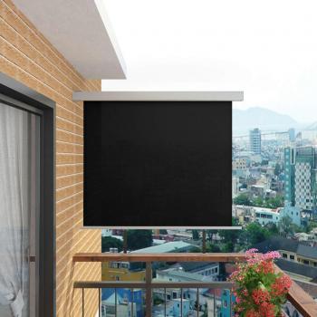 HuberXXL Balkon-Seitenmarkise Multifunktional 150×200 cm Schwarz