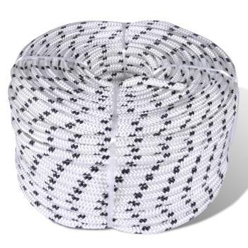 HuberXXL Flechtleine Bootsseil Polyester 6 mm 500 m Weiß