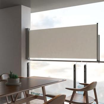 HuberXXL Ausziehbare Seitenmarkise 100 x 300 cm Creme