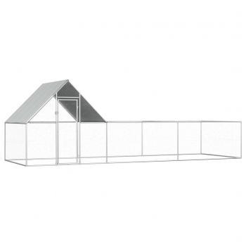 HuberXXL Hühnerstall 6×2×2 m Verzinkter Stahl