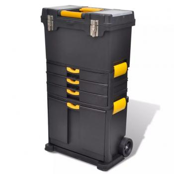 Tragbarer Werkzeugkoffer Trolley Werkzeugaufbewahrung