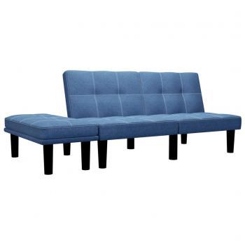 HuberXXL 2-Sitzer-Sofa Blau Stoff