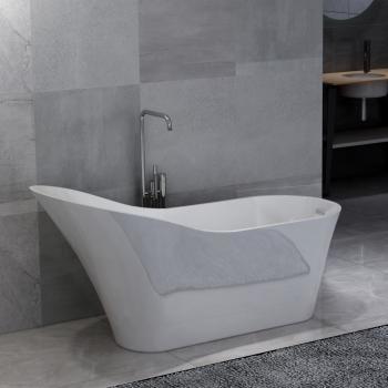 HuberXXL Freistehende Badewanne Weiß Acryl 210 L