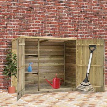 HuberXXL Garten-Geräteschuppen 135x60x123 cm Kiefernholz Imprägniert