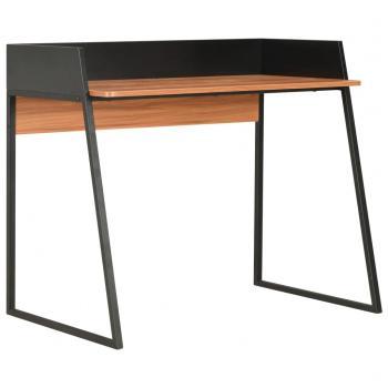 HuberXXL Schreibtisch Schwarz und Braun 90x60x88 cm