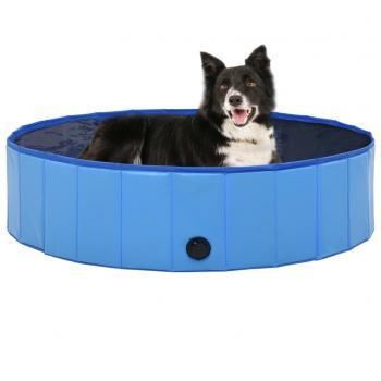 HuberXXL Hundepool Faltbar Blau 120 x 30 cm PVC