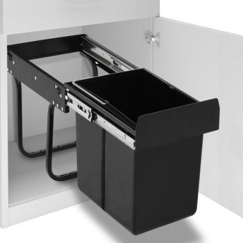 HuberXXL Abfallbehälter für Küchenschrank Ausziehbar Soft-Close 20 L