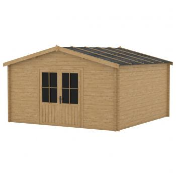 HuberXXL Blockhaus 28 mm 400x400 cm Holz
