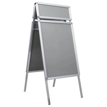 HuberXXL A1 Kundenstopper Plakatständer mit Topschild Aluminium