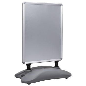 HuberXXL A1-Plakatständer Wasserbefüllbar Grau Aluminiumlegierung