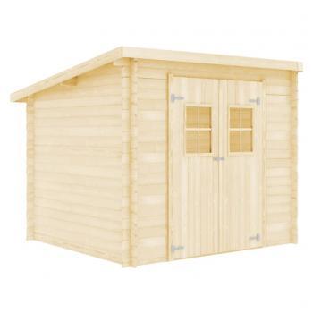HuberXXL Blockhaus 28 mm 3,3 x 2,6 m Massivholz