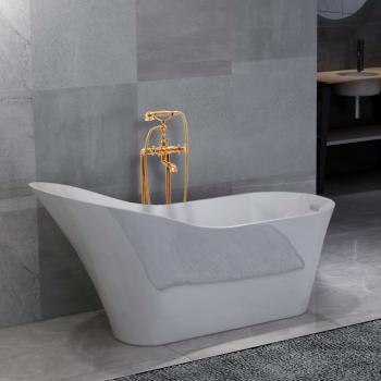 HuberXXL Freistehende Badewanne und Wasserhahn 210 L 99,5 cm Golden