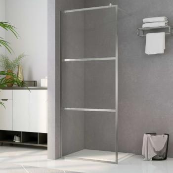 HuberXXL Duschwand für Begehbare Dusche mit Klarem ESG-Glas 90x195 cm