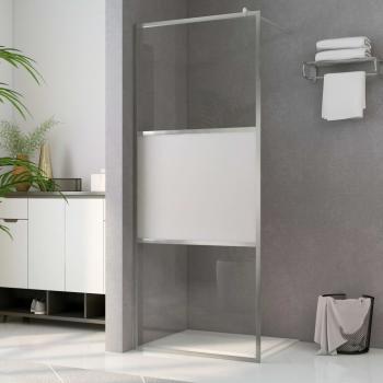 HuberXXL Begehbare Duschwand mit Halbmattiertem ESG-Glas 140x195cm
