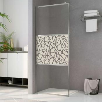 HuberXXL Duschwand für Begehbare Dusche ESG-Glas Steindesign 140x195 cm