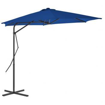 Sonnenschirm mit Stahlmast Blau 300x230 cm