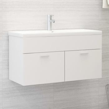 Waschbeckenunterschrank Weiß 90x38,5x46 cm Spanplatte