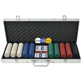 HuberXXL Poker Set mit 500 Chips Aluminium